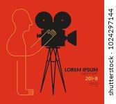 movie and film modern retro... | Shutterstock .eps vector #1024297144