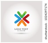 x arrow logo. symbol   icon... | Shutterstock .eps vector #1024297174