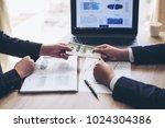 close up hand of business...   Shutterstock . vector #1024304386