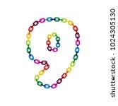 9 chain letter logo icon design | Shutterstock .eps vector #1024305130