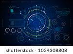 ui hud artificial intelligence...   Shutterstock .eps vector #1024308808