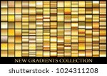 gold gradient set background... | Shutterstock .eps vector #1024311208