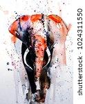 watercolor animal  watercolor... | Shutterstock . vector #1024311550