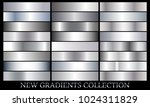 silver gradient set background... | Shutterstock .eps vector #1024311829