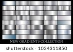 silver gradient set background... | Shutterstock .eps vector #1024311850