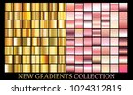 gold rose gradient set...   Shutterstock .eps vector #1024312819