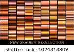 bronze gold gradient set...   Shutterstock .eps vector #1024313809