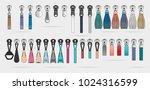 zipper pulls handbag... | Shutterstock .eps vector #1024316599
