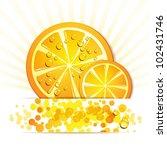 slice of orange with drops | Shutterstock . vector #102431746