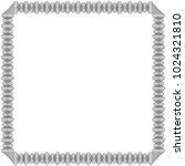 black frame with many swirl...   Shutterstock .eps vector #1024321810