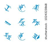 winter sports icons set vector | Shutterstock .eps vector #1024323868