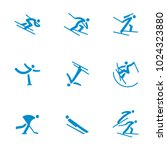 winter sports icons set vector | Shutterstock .eps vector #1024323880
