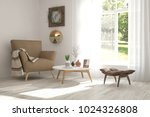 idea of white room with... | Shutterstock . vector #1024326808