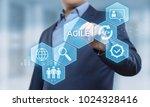 agile software development... | Shutterstock . vector #1024328416