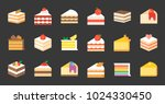 set of cake  tiramisu  cheese... | Shutterstock .eps vector #1024330450