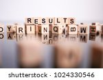results word cube on reflection | Shutterstock . vector #1024330546