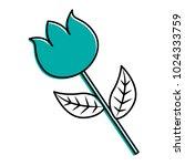 flower stem petal leaves...   Shutterstock .eps vector #1024333759