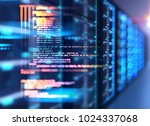 server room 3d illustration... | Shutterstock . vector #1024337068