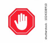 no entry sign. stop hand... | Shutterstock .eps vector #1024338910