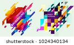 set of abstract backgrounds.... | Shutterstock .eps vector #1024340134