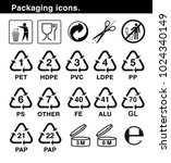 set of icons for packaging.... | Shutterstock .eps vector #1024340149