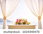 flowers wedding ceremony by the ... | Shutterstock . vector #1024340470