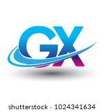 initial letter gx logotype...   Shutterstock .eps vector #1024341634