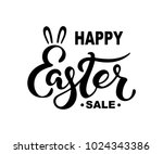 happy easter sale text isolated ... | Shutterstock .eps vector #1024343386