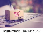 online shopping   ecommerce and ... | Shutterstock . vector #1024345273