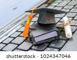 online learning or e learning... | Shutterstock . vector #1024347046