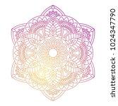 mandala. ornamental round... | Shutterstock .eps vector #1024347790
