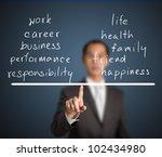 business man balance his work...   Shutterstock . vector #102434980