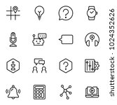 technical support flat icon set.... | Shutterstock .eps vector #1024352626