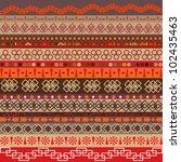 various strips motifs colored... | Shutterstock .eps vector #102435463