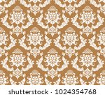 floral pattern. wallpaper... | Shutterstock .eps vector #1024354768