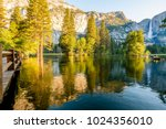 Merced River And Yosemite Fall...