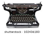 antique manual underwood... | Shutterstock . vector #102436183