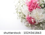 the bouquet of a pink and white ... | Shutterstock . vector #1024361863