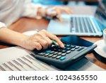 business woman using a... | Shutterstock . vector #1024365550