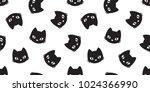 cat vector seamless pattern... | Shutterstock .eps vector #1024366990
