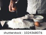 dessert mix wheat flour with... | Shutterstock . vector #1024368076