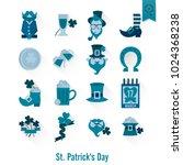 saint patricks day isolated... | Shutterstock .eps vector #1024368238