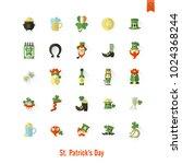 saint patricks day isolated... | Shutterstock .eps vector #1024368244