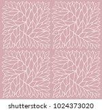 vector repeat organic pattern.... | Shutterstock .eps vector #1024373020