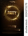 party vector poster template... | Shutterstock .eps vector #1024373170