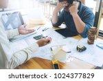 engineer man use phone mobile... | Shutterstock . vector #1024377829