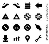 solid vector icon set  ... | Shutterstock .eps vector #1024380148