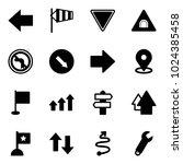 solid vector icon set   left... | Shutterstock .eps vector #1024385458