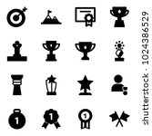 solid vector icon set   target... | Shutterstock .eps vector #1024386529