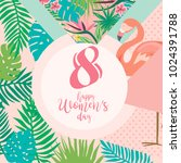 international woman's day...   Shutterstock .eps vector #1024391788
